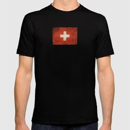 Old and Worn Distressed Vintage Flag of Switzerland T-shirt