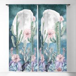 Desert Nights Gemstone Oasis Moon Blackout Curtain