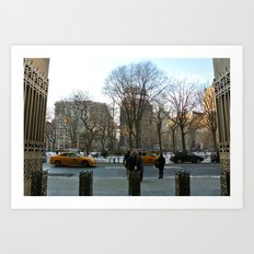 Winter in Madison Square Park Art Print