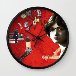 Woman in trouble Wall Clock