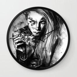 Tattooed babe Liz Wall Clock