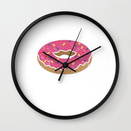 Donut Glazed and Confused Shirt - Funny Donut T-Shirts Wall Clock