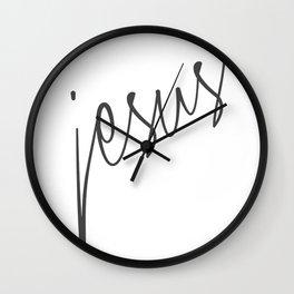 Jesus 01 Wall Clock