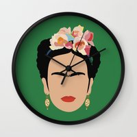 frida Wall Clocks featuring frida by Live It Up