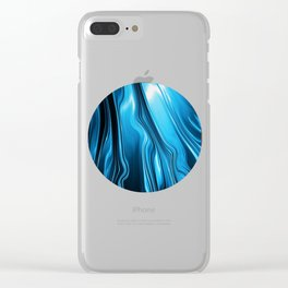 Streaming Deep Blues Clear iPhone Case