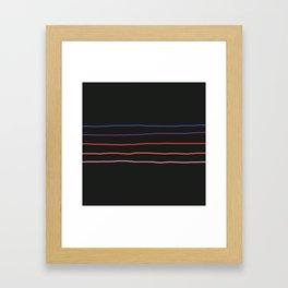 Abstract Retro Stripes #4 Framed Art Print