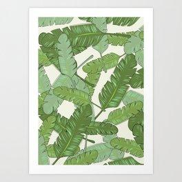 Banana Leaf Print Art Print