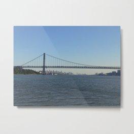 Bridge over Hudson River, New York City Metal Print