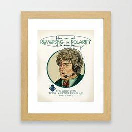 Reverse the Polarity Framed Art Print