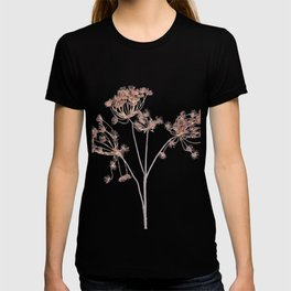 Queen Anne's Lace delicate fabric made yarn thread T-shirt