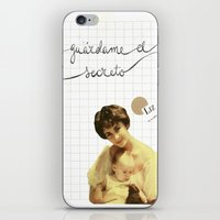 jenny liz rome iPhone & iPod Skins featuring liz by Willy Ollero