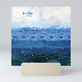 Sky Fish - Warming Oceans and Sea Level Rising Mini Art Print