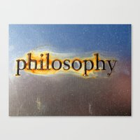 philosophy Canvas Prints featuring Philosophy by Rachel Chelly Thompson