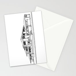 Darwin Martin House in Black & White Stationery Cards