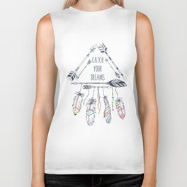 Tribal frame with ethnic arrows and feathers. American indian motifs. Boho  Biker Tank