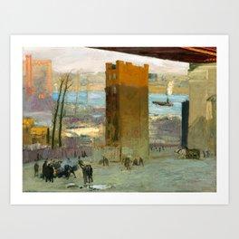 George Bellows - The Lone Tenement, 1909 Art Print
