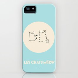Paper Bag Cats, Canvas and Duffel, Blue Background iPhone Case