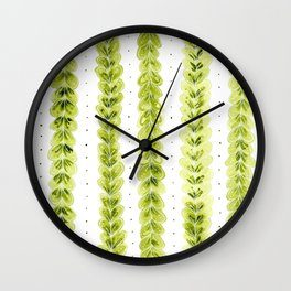 Leaf Pattern in Watercolour Wall Clock