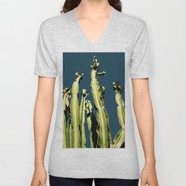 Cactus - blue Unisex V-Neck