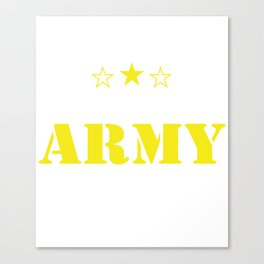 Army Dad Proud US Military Family Parent Soldier Enlisted Any Size veteran patriotic Canvas Print