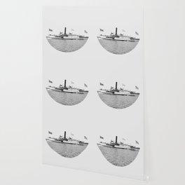Ticonderoga Steamer on Lake Champlain Wallpaper