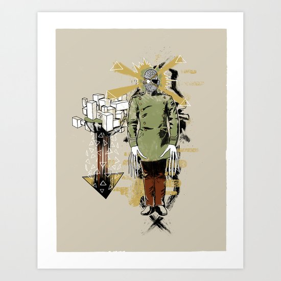 He Came With Bolts From His Eye Art Print