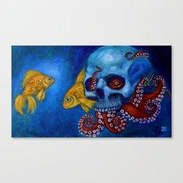Hermit Octopus Canvas Print