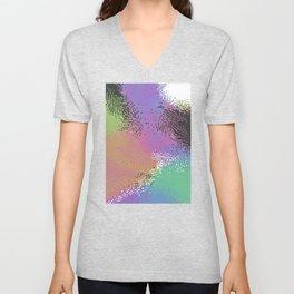 abstract pixels 01 Unisex V-Neck