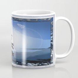 TWO WINDSWEPT DOUGLAS FIR ON THE SHORELINE Coffee Mug