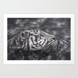 Tiger on the Hunt Art Print
