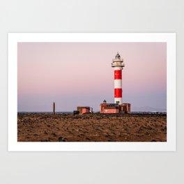 Lighthouse in Fuerteventura at sunset Art Print