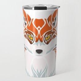 Tribal Fox - Wild Animal Art - Exotic Animals Travel Mug