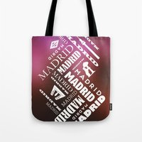 madrid Tote Bags featuring Madrid by Rafael CA