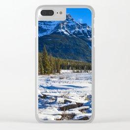 Mount Kerkeslin in Jasper National Park, Alberta Clear iPhone Case