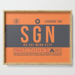 Baggage Tag B - SGN Ho Chi Minh City Vietnam Serving Tray