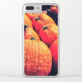 Pumpkins on a Pallet Clear iPhone Case