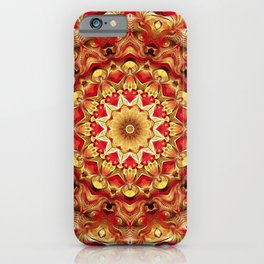 Flower Of Life Mandala (Magma) iPhone Case