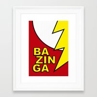 bazinga Framed Art Prints featuring Bazinga by Bazingfy
