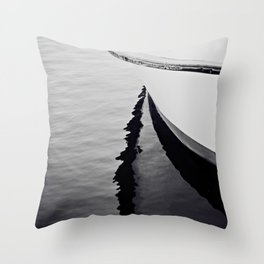 Reflections Black and White Nautical Boat Throw Pillow