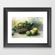 Lemons & Limes Framed Art Print