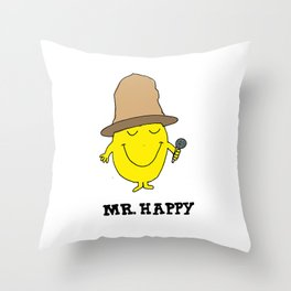 Mr. Happy Throw Pillow