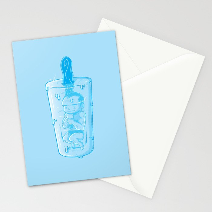 Prehistoric popsicle Stationery Cards