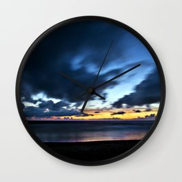 Nocturnal Cloud Spectacle on Danish Sky Wall Clock