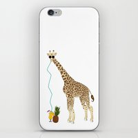 pinapple iPhone & iPod Skins featuring Cool Giraffe by Elise Cayouette