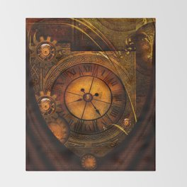 Awesome noble steampunk design Throw Blanket