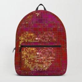 Red Love Heart Tile Art Backpack
