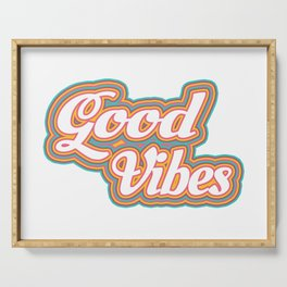 Good Vibes - Multicolored Serving Tray