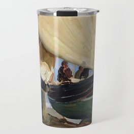 Fishermen Beached Boat, Valencia - Joaquín Sorolla  Travel Mug