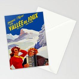 Vintage Vallee de Joux Switzerland Travel Stationery Cards