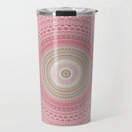 Gold Rose and Blush Boho Mandala Travel Mug